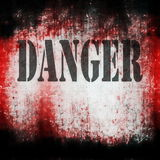 Danger on grunge bloody background Royalty Free Stock Images