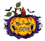 Danger halloween pumpkin Stock Images