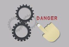 Danger hand Stock Image