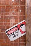 Danger Hard Hat Area Royalty Free Stock Images