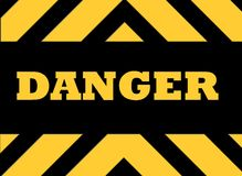 Danger hazard sign Royalty Free Stock Photos