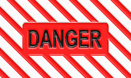 Danger hazard warning poster Stock Images
