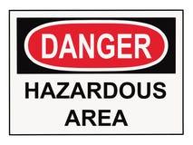 Free Danger Hazardous Area Sign Royalty Free Stock Images - 9578229