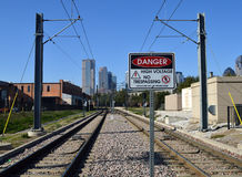 Danger. Hazardous to human beyond this point. Stock Photography