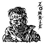 Danger head of zombie. Vector illustration. Royalty Free Stock Photography