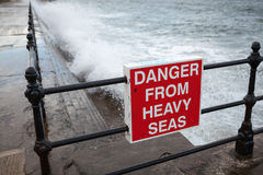 Danger from Heavy Seas. Sign showing Danger from Heavy Seas Stock Photography