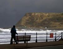 Danger High Seas. Taken at Scarborough, North Yorkshire, UK stock photography
