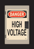 Danger! High voltage Royalty Free Stock Photography