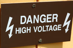 Danger - High Voltage. Sign Royalty Free Stock Image