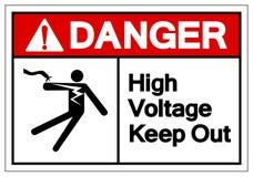 Danger High Voltage Keep Out Symbol Sign, Vector Illustration, Isolate On White Background Label .EPS10 royalty free illustration