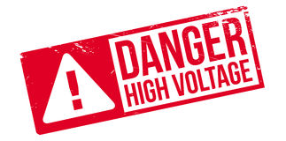 Danger High Voltage rubber stamp Royalty Free Stock Photos