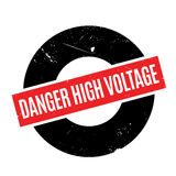 Danger High Voltage rubber stamp Royalty Free Stock Photography
