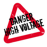 Danger High Voltage rubber stamp Stock Photos