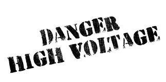 Danger High Voltage rubber stamp Royalty Free Stock Images