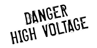 Danger High Voltage rubber stamp Stock Photography