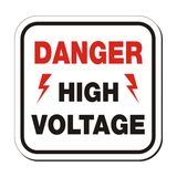 Danger high voltage - sefety sign Stock Photo