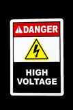 Danger High Voltage Royalty Free Stock Photos