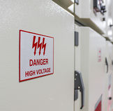 Danger high voltage sign Royalty Free Stock Photos