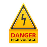 Danger High Voltage Sign Royalty Free Stock Photography