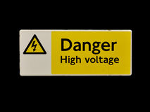 Danger High Voltage Sign Royalty Free Stock Images