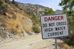 Danger High Water Signage Royalty Free Stock Photos