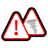 Danger hurricane Stock Images