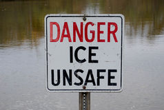 Danger Ice Unsafe Royalty Free Stock Image