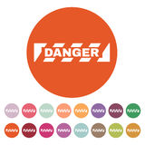 The danger icon. Caution and hazard, attention symbol. Flat Royalty Free Stock Photography