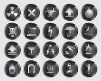 Danger icons Royalty Free Stock Photos