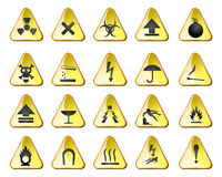 Danger icons Royalty Free Stock Images