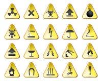 Danger icons royalty free illustration