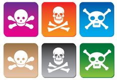 Danger icons Royalty Free Stock Photo
