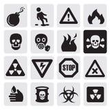Danger icons vector illustration