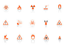 Danger icons Stock Photo
