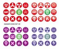 Danger Icons Set Royalty Free Stock Image