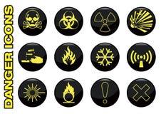 Danger icons Stock Photos