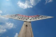 Danger Impact Area. Sign on beach Stock Photo