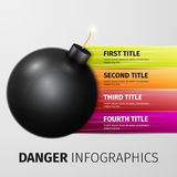 Danger infographics Stock Images