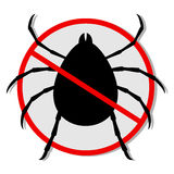 Danger insect. Design of danger insect sign Stock Images