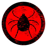 Danger insect icon Stock Photography