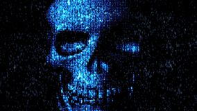 Danger in the Internet. Malicious code hacker stock footage