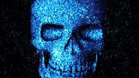 Danger in the Internet. Malicious code hacker. Skull Stock Images