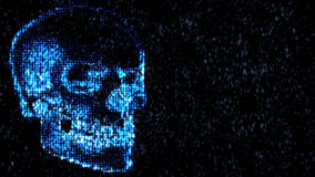 Danger in the Internet. Malicious code hacker. Skull Stock Image