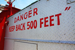 Danger Keep Back Royalty Free Stock Image