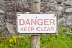 Danger Keep Clear Stock Images