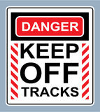 Danger Keep off tracks sign vector Royalty Free Stock Image
