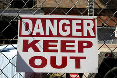 Danger Keep Out Stock Photography