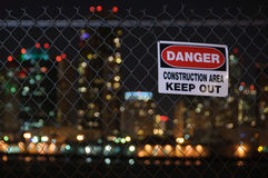 Danger Keep Out Fence Royalty Free Stock Photos