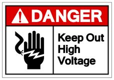 Danger Keep Out High Voltage Symbol Sign, Vector Illustration, Isolate On White Background Label .EPS10 royalty free illustration
