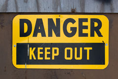 Danger Keep Out Sign. A warning sign that reads DANGER KEEP OUT stock photo